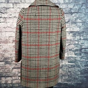Hibiscus Pizza Jackets & Coats - Vintage Rounded Collar Woolen Button Coat Large
